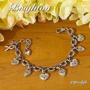 Brighton 1st Power of Pink Bracelet Vintage (2003) Silver Pink Enamel